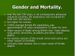 gender and mortality
