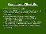 health and ethnicity