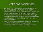health and social class