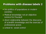problems with disease labels 2