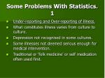 some problems with statistics 1
