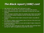 the black report 1980 cont