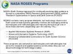 nasa roses programs