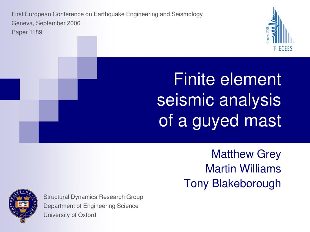 finite element seismic analysis of a guyed mast l.
