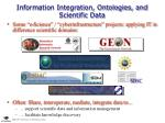 information integration ontologies and scientific data