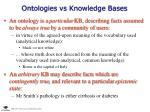 ontologies vs knowledge bases
