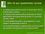 aim of our systematic review