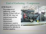 end of gathering compressor