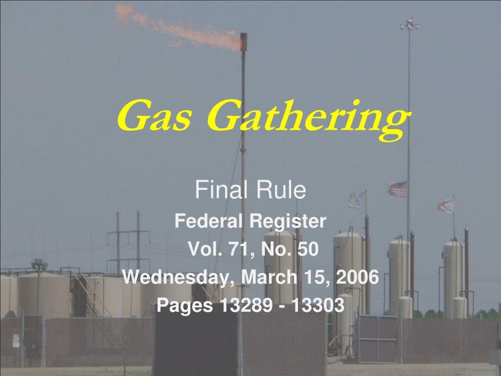 gas gathering l.