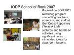 iodp school of rock 2007