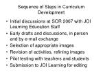 sequence of steps in curriculum development