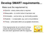 develop smart requirements