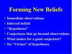 forming new beliefs