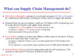 what can supply chain management do