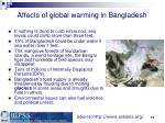 affects of global warming in bangladesh