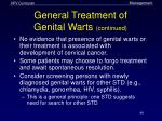general treatment of genital warts continued