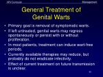 general treatment of genital warts