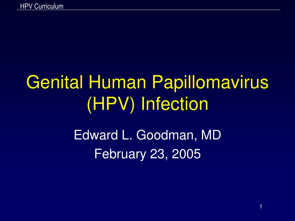 genital human papillomavirus hpv infection l.