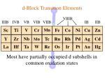 d block transition elements