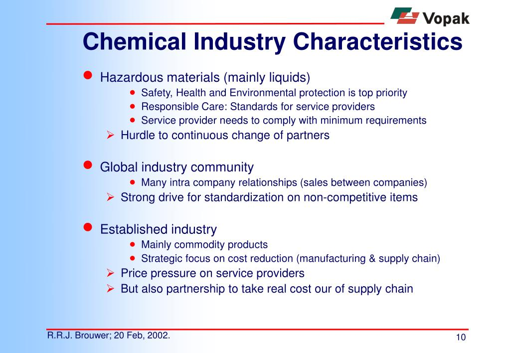 Chemical Industry Characteristics
