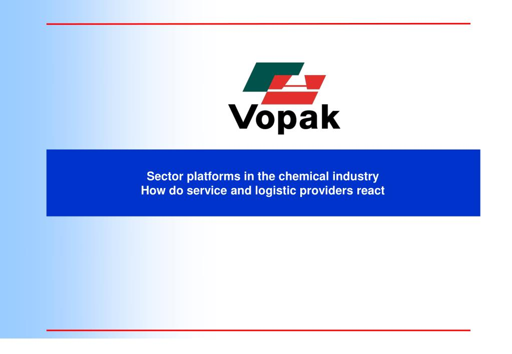 sector platforms in the chemical industry how do service and logistic providers react l.
