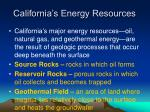 california s energy resources