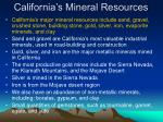 california s mineral resources