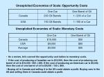 unexploited economies of scale opportunity costs