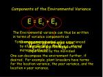 components of the environmental variance