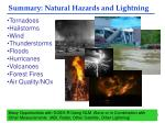 summary natural hazards and lightning