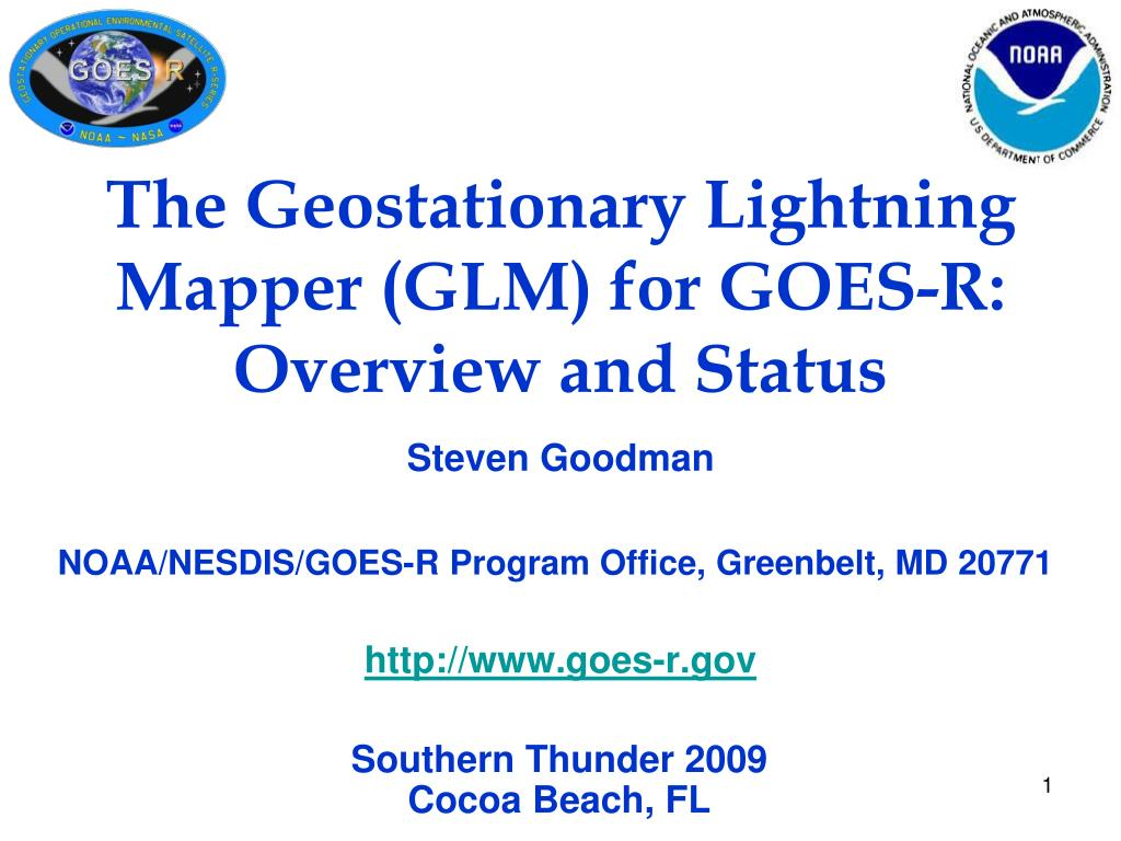 the geostationary lightning mapper glm for goes r overview and status l.