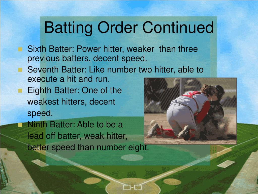 Batting Order Continued