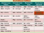 derivational suffixes