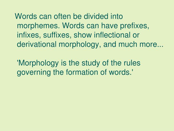 Morphology Affix And Inflectional Morphemes Custom Paper Academic