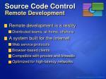 source code control remote development