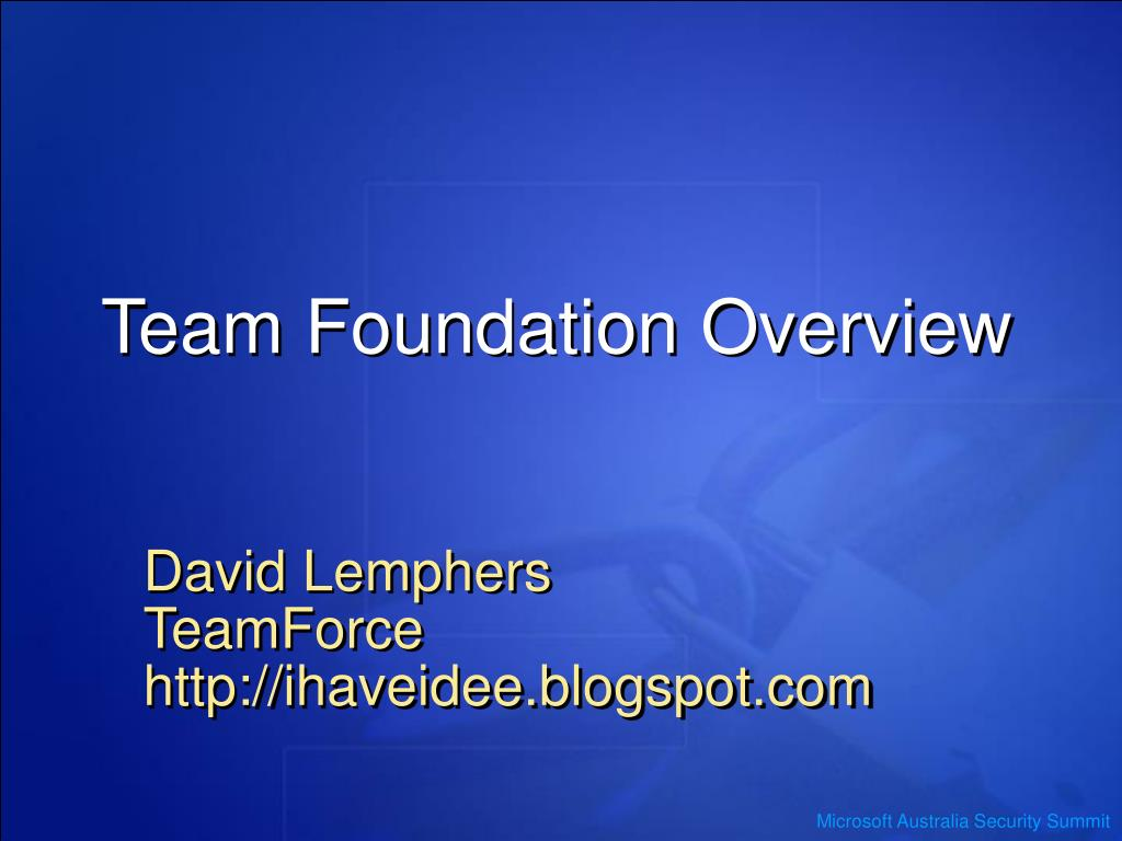 team foundation overview l.
