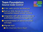 team foundation source code control