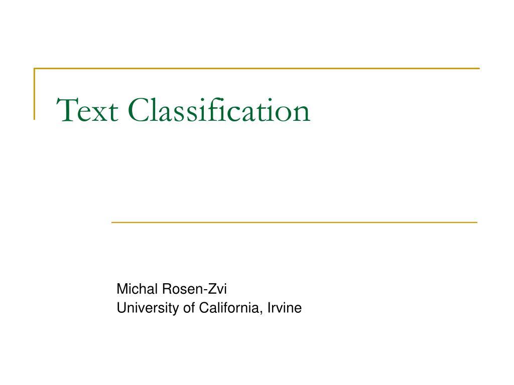 text classification l.