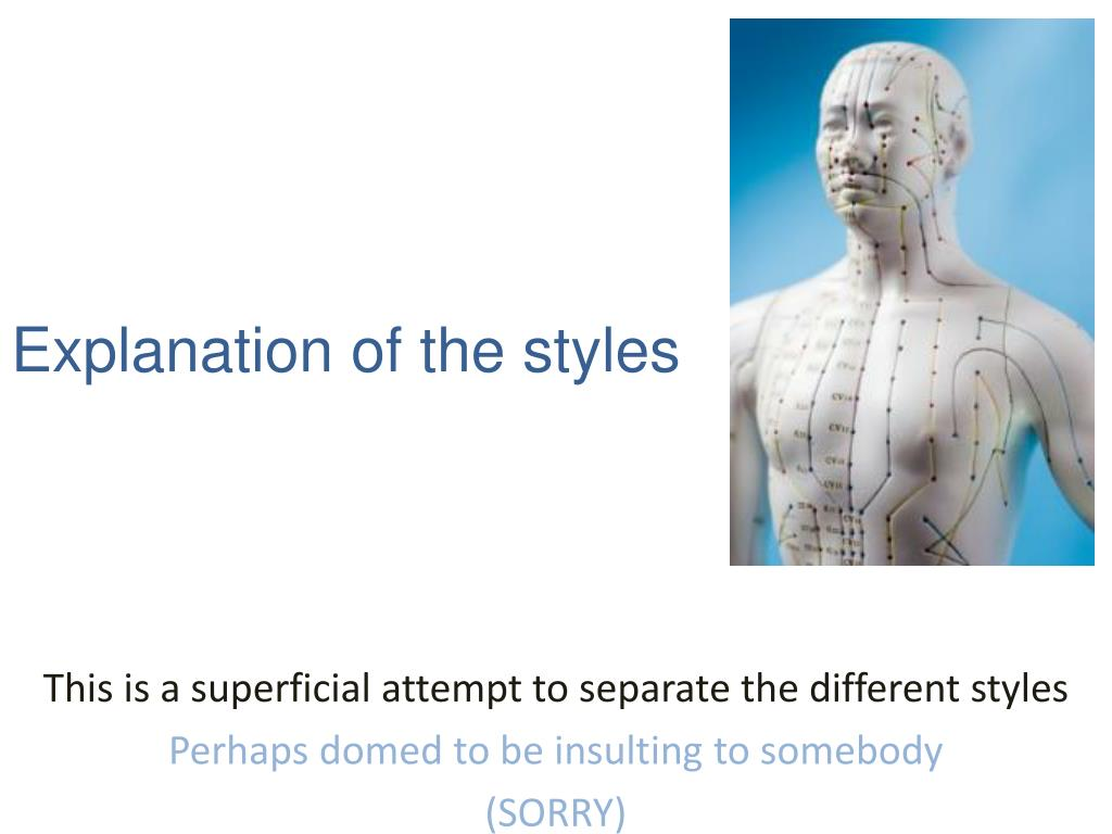 Explanation of the styles
