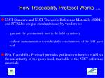 how traceability protocol works