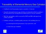 traceability of elemental mercury gas cylinders