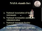 nasa stands for