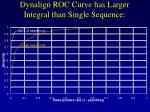 dynalign roc curve has larger integral than single sequence