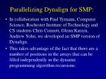 parallelizing dynalign for smp