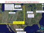 all of chrysler plants in the north america