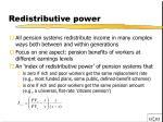redistributive power