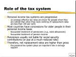 role of the tax system