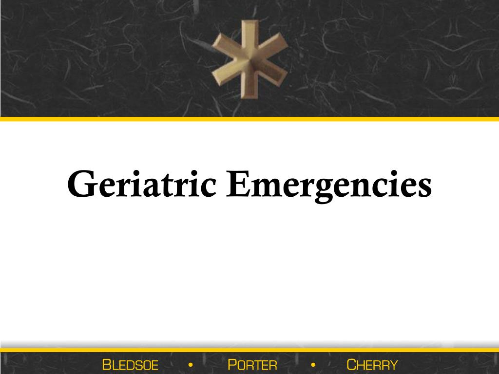 geriatric emergencies l.