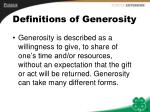 definitions of generosity
