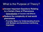 what is the purpose of theory